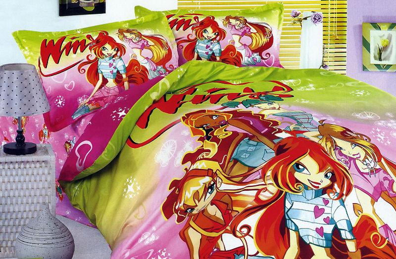 Мультяшные персонажи на постельном белье