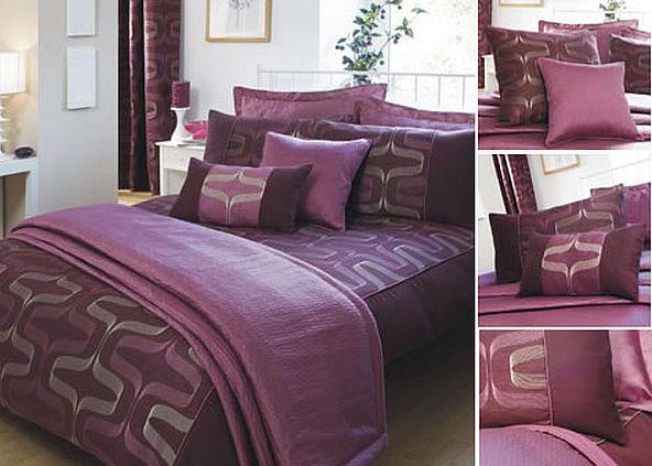 Лиловое постельное бельё с узором