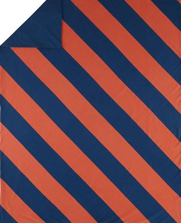 Сине оранжевое постельное белье
