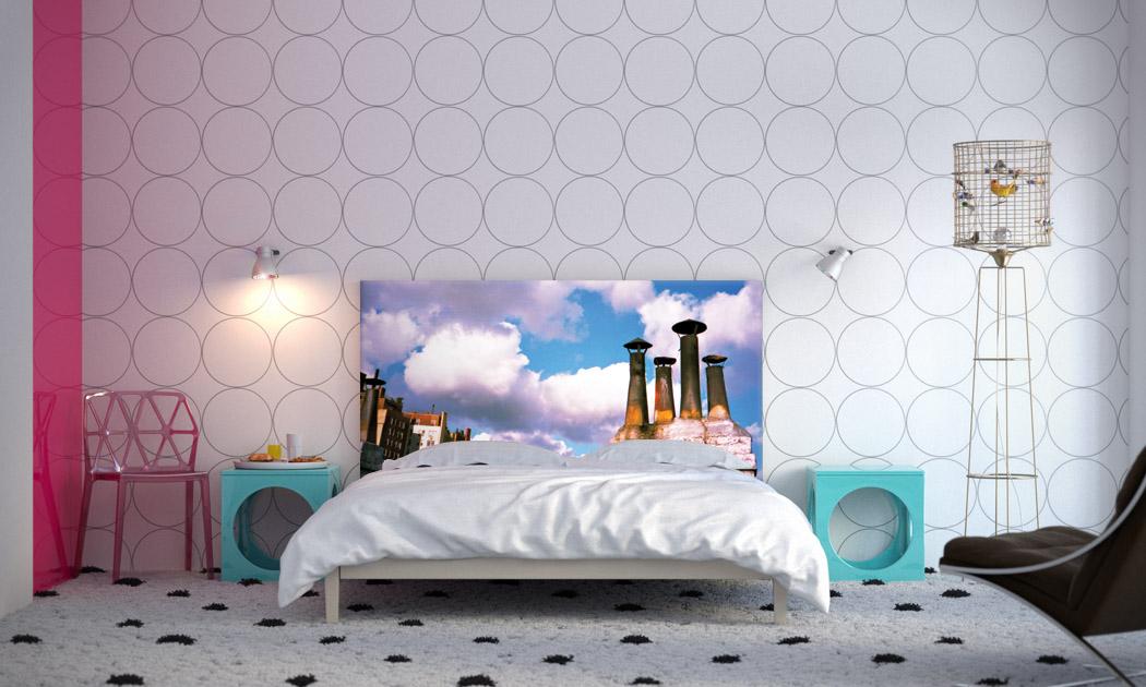 Original headboards for beds from art studio NOYO Home Decor