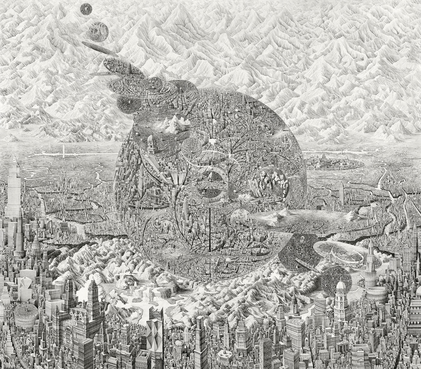 Бен Сак: графические образы фантастических городских пейзажей