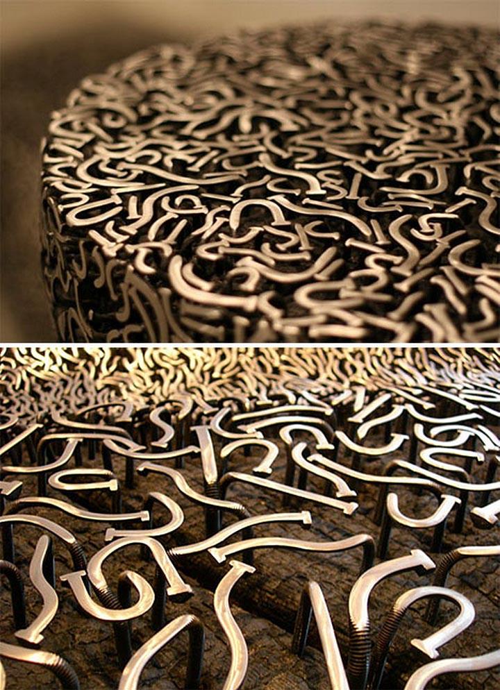 Чудесная деревянная скамья от Александра Лервика