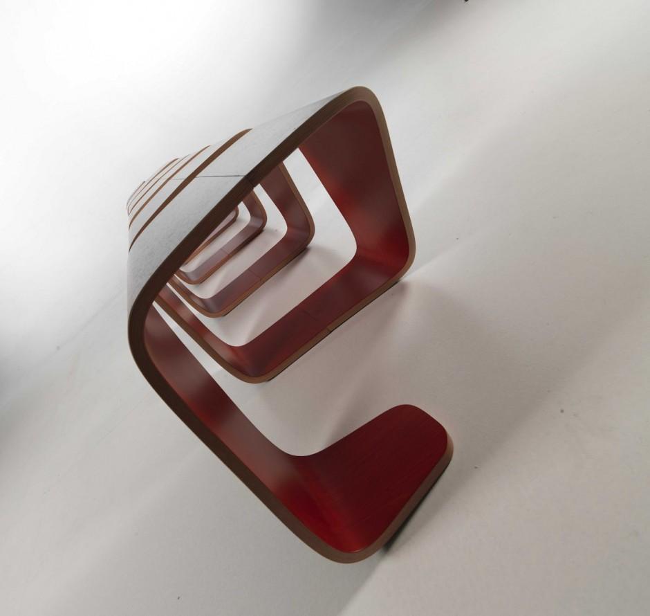 Внутренний вид скамейки True Design от Leonardo Rossano