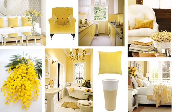 Желтые предметы интерьера