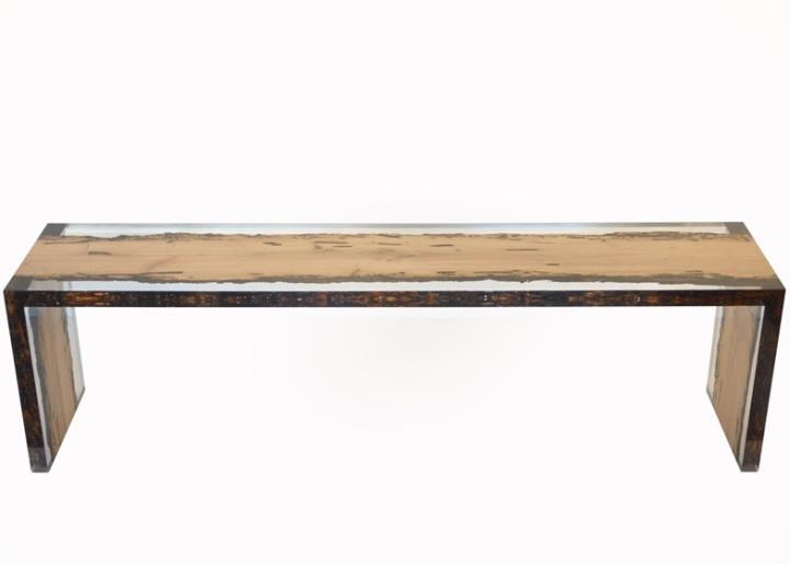 Чудесная деревянная скамья Bent Bench от alcarol