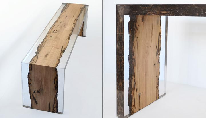 Необычная деревянная скамья Bent Bench от alcarol