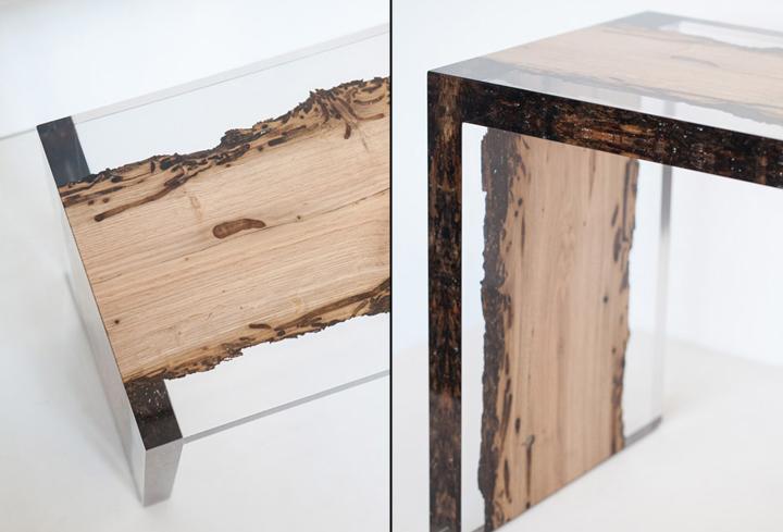 Знаковая деревянная скамья Bent Bench от alcarol