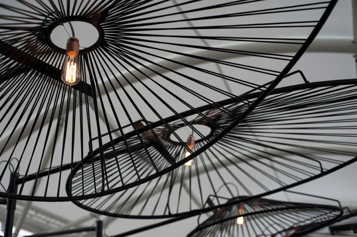 Металлический абажур потолочных светильников