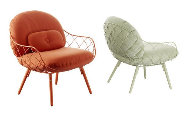 Кресла Pina с металлическим каркасом