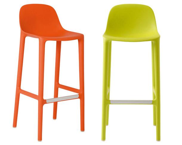 Пластиковые барные стулья Broom