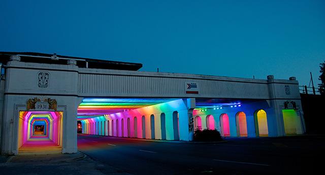 Фантастический световой портал от Bill FitzGibbons