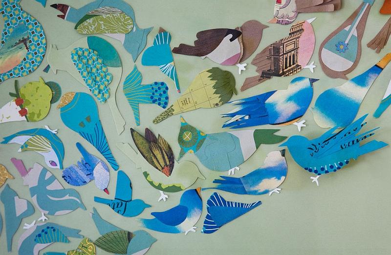 Бумажные птички в детской