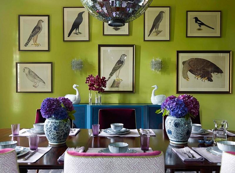 Птицы на картинах в интерьере