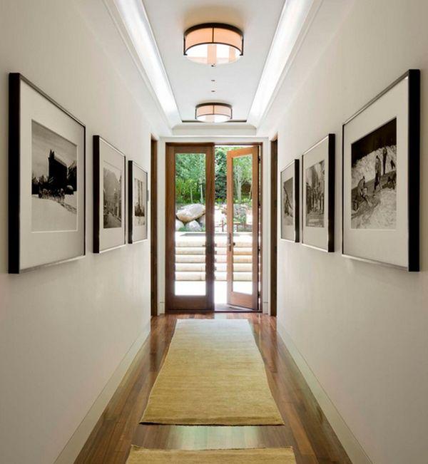 Черно белый коридор