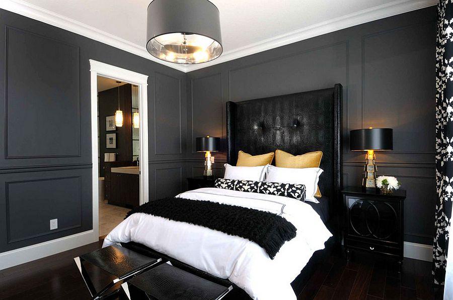 Стильный дизайн интерьера спальни