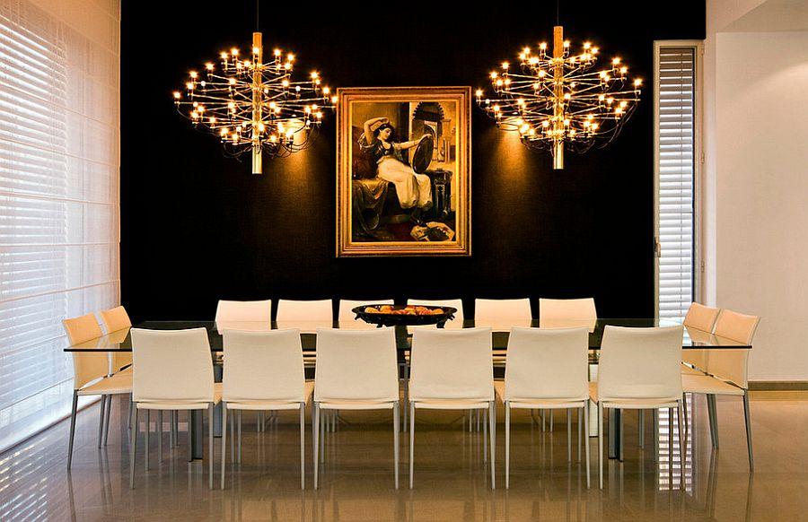 Стильный дизайн интерьера столовой