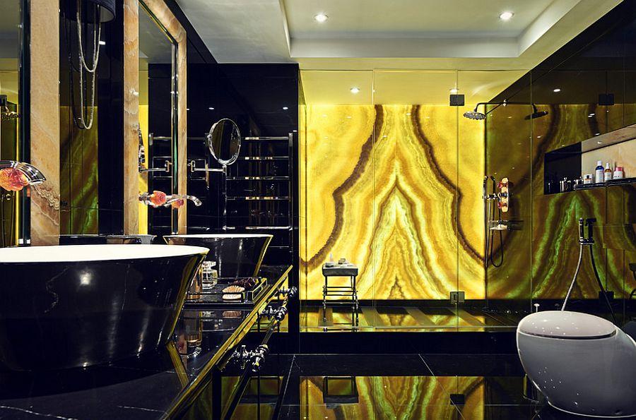 Стильный дизайн интерьера ванной комнаты