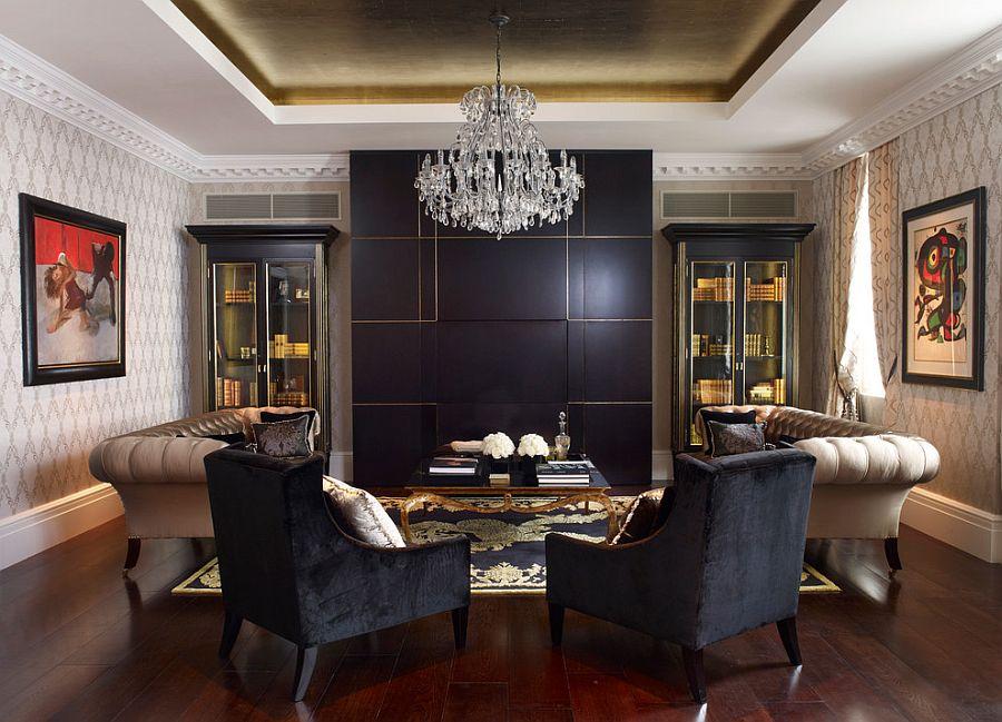 Стильный дизайн интерьера гостиной