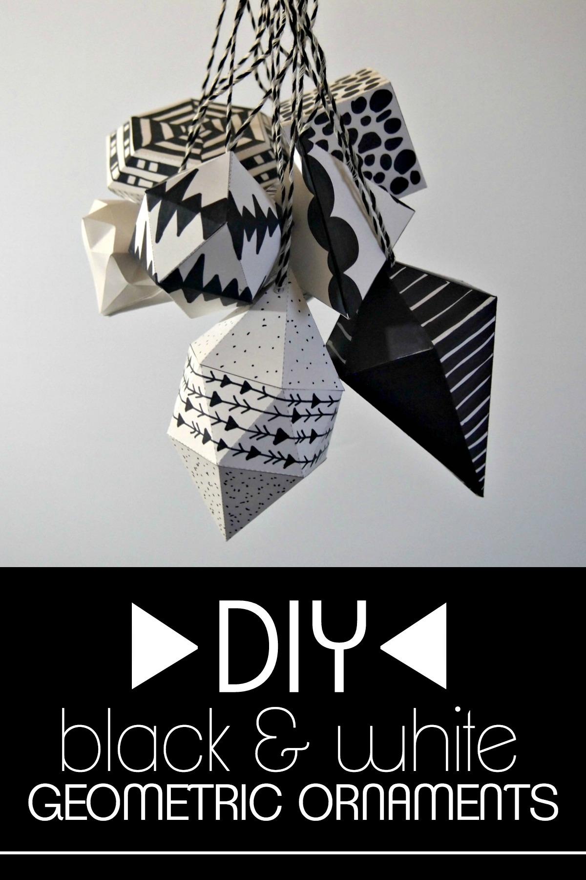 Креативный декор в черно-белой цветовой гамме