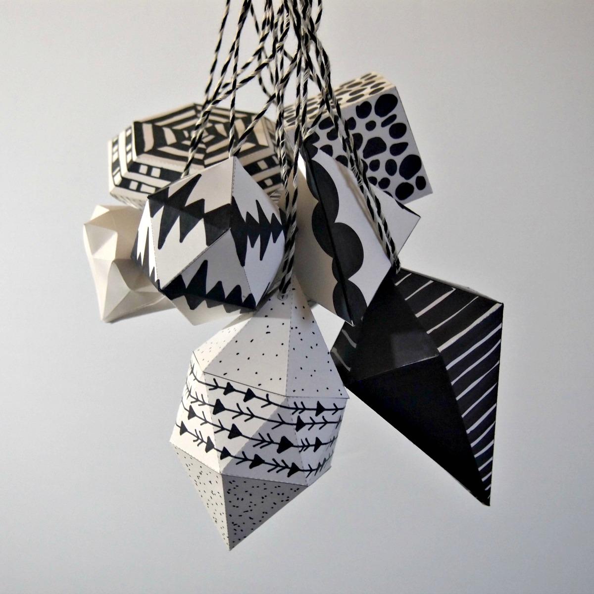 Бело-черный декор в геометрической форме