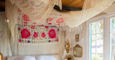 Богемский стиль в интерьере: пример оформления спальни