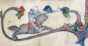 Рыцарские сражения с улитками: рисунки на полях средневековых книг