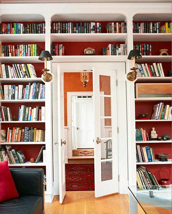 Стильные книжные полки в интерьере