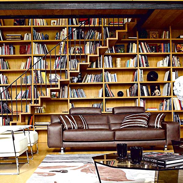 Восхитительные книжные полки в интерьере