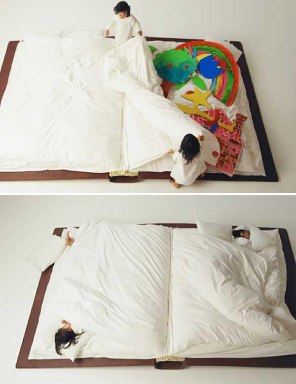 Кровать в форме книги