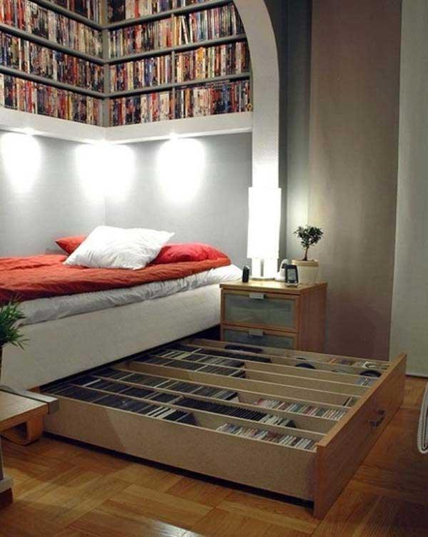 Выдвижные ящики с под кровати для книг