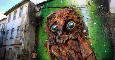 Артуро Бордало II: уличные 3D-инсталляции с изображением птиц