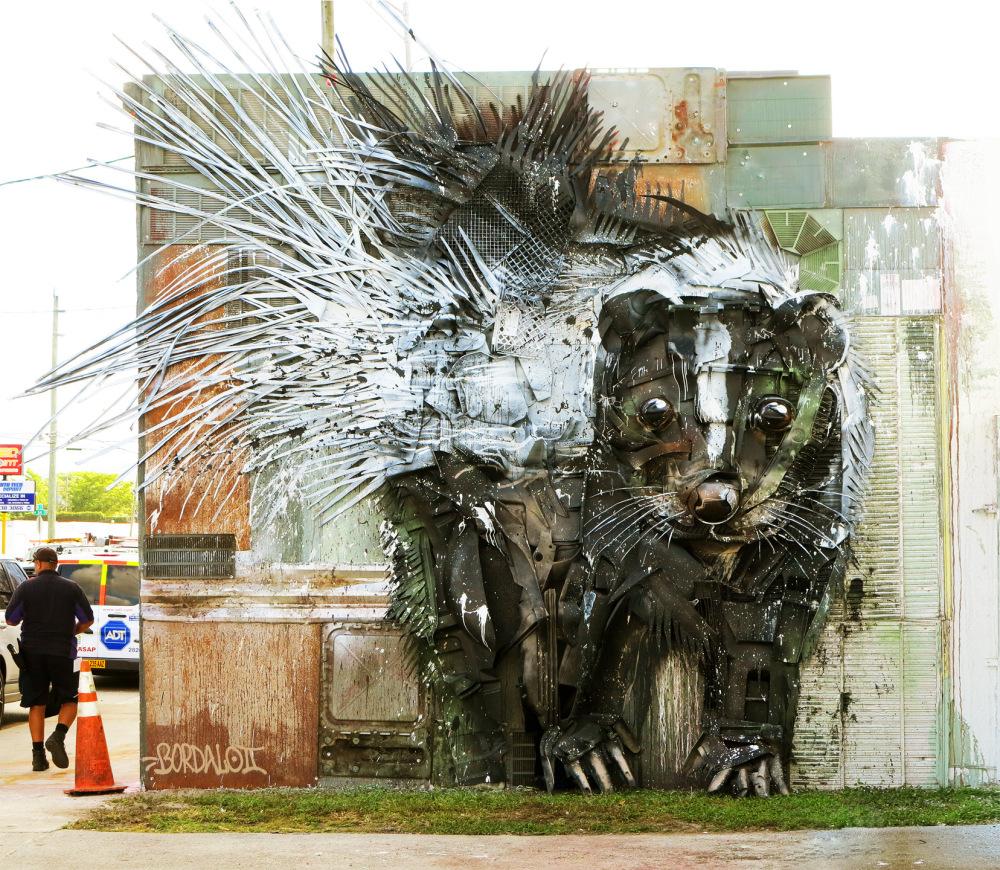 Bordalo II: новые масштабные скульптуры из мусора