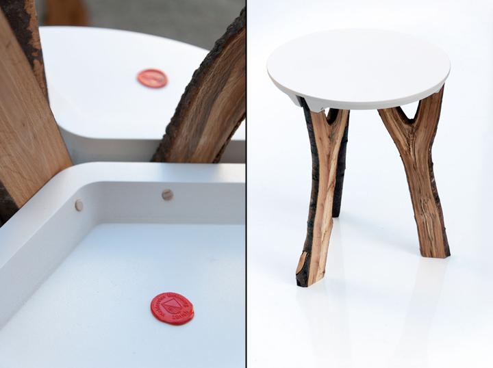 Прекрасный экологический табуреты Branch stool от schindlersalmerón