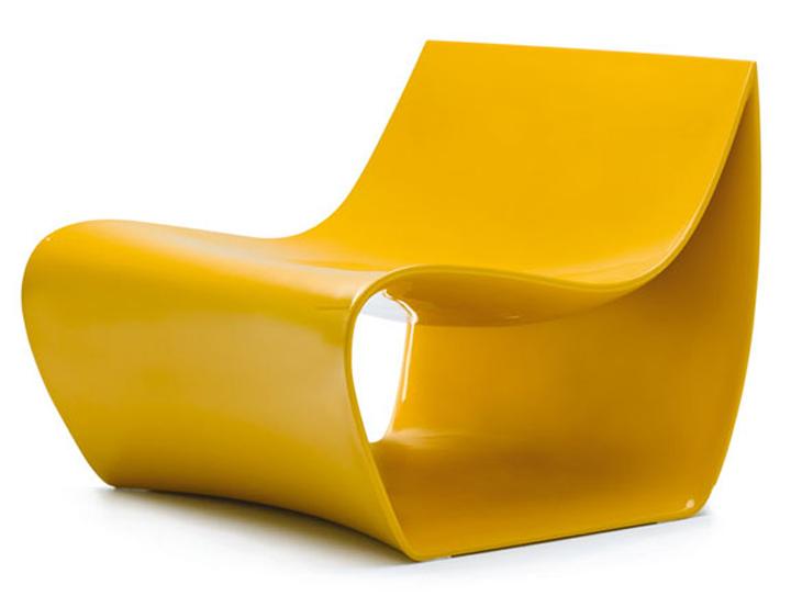 Прекрасное-шезлонг в желтом цвете от компании MDF Italia