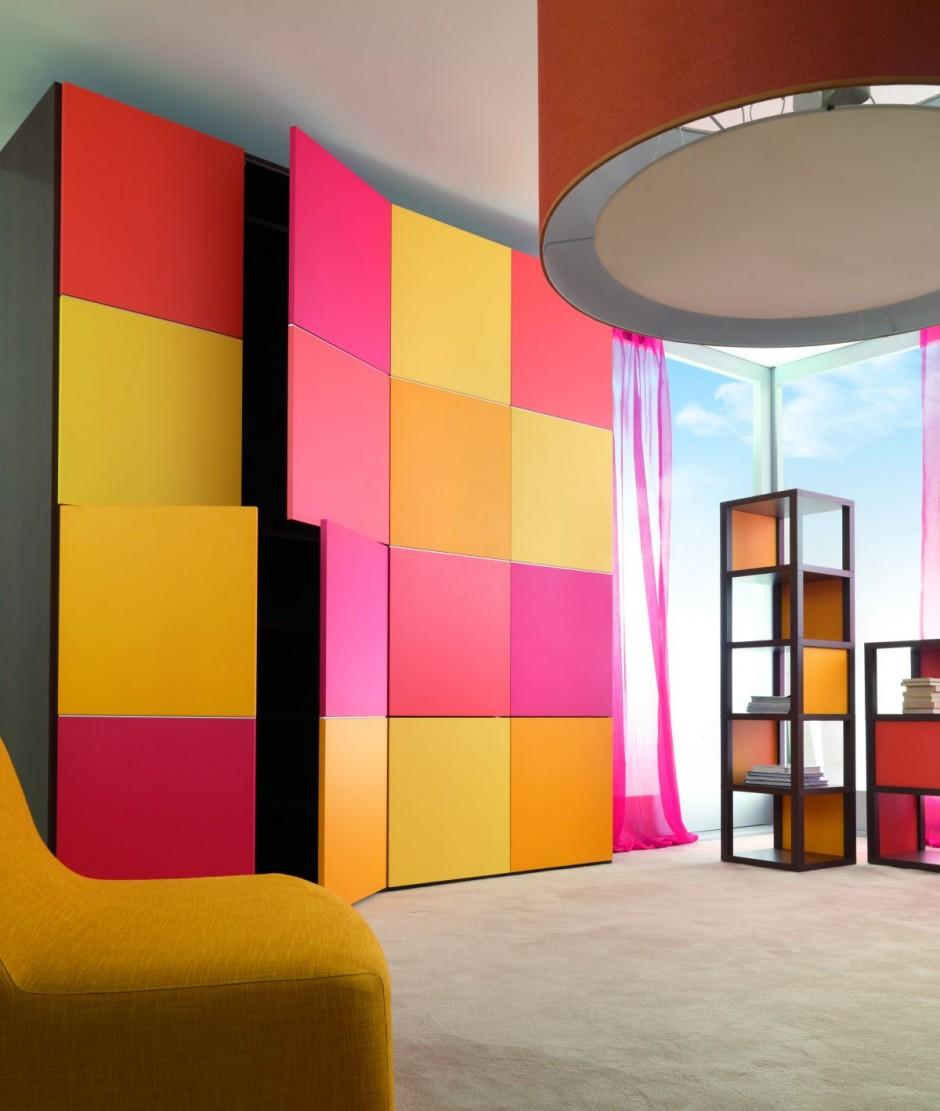 Яркие фасада шкафа