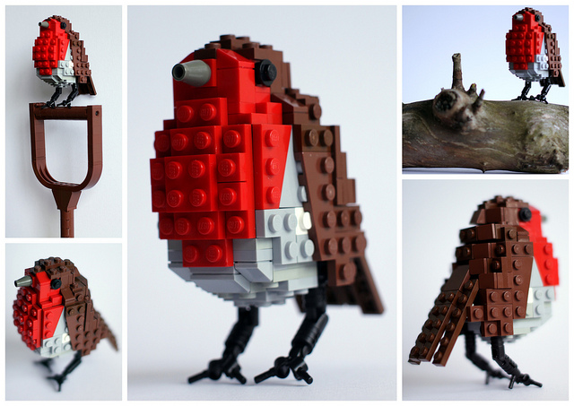 Пернатое чудо из конструктора Лего от британского дизайнера Thomas Poulsom