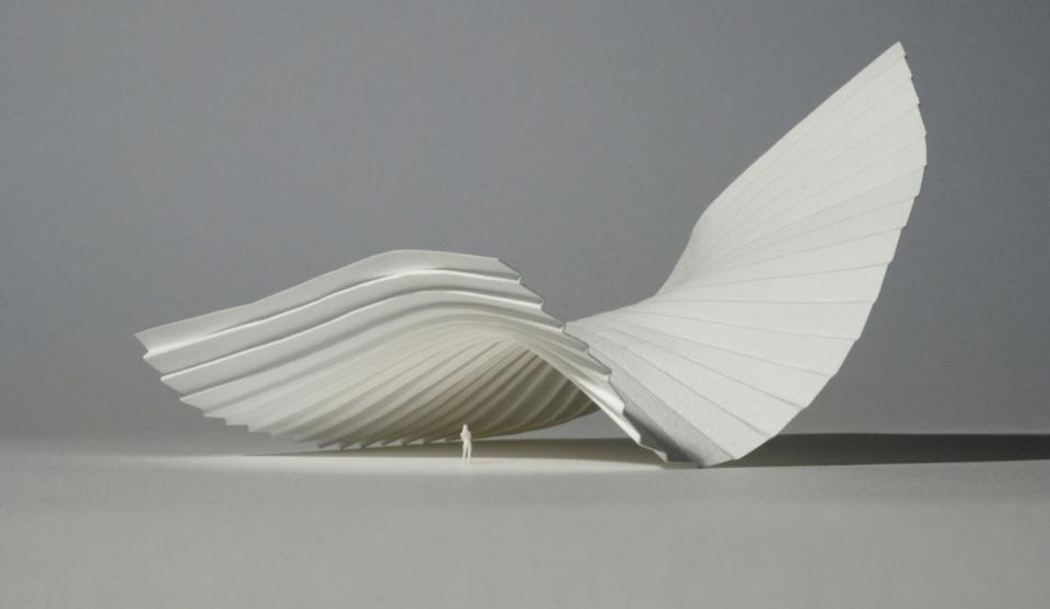 Объёмные бумажные скульптуры Ричарда Суини: Волна