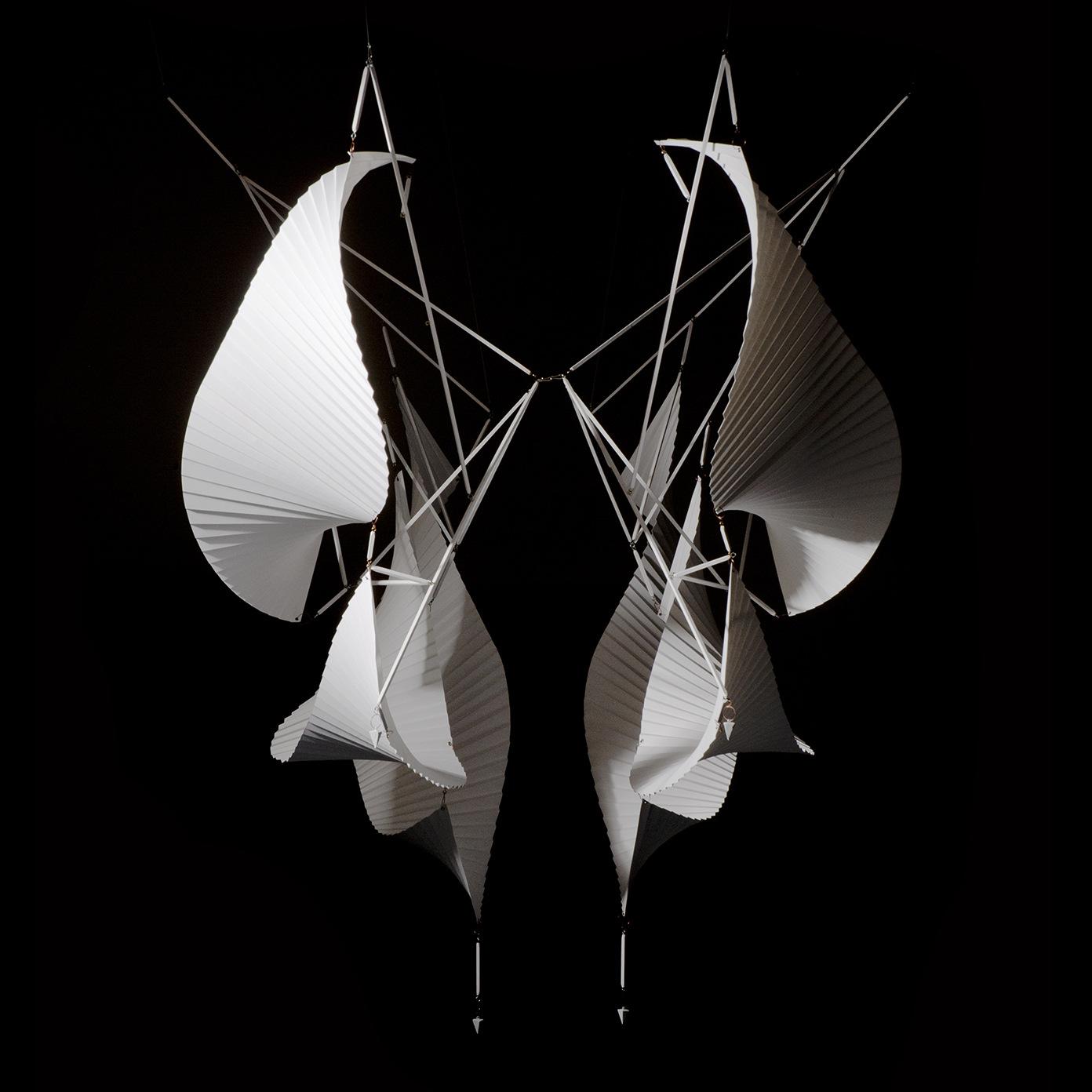 Объёмные бумажные скульптуры Ричарда Суини: бумажная композиция на каркасе