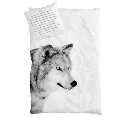 Изображение волка на постельном белье от Nord Bedding