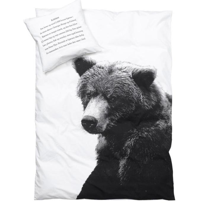 Медведь на постельном белье от Nord Bedding