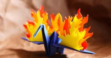 Страницы оригами-дневника Кристиана Марянчука