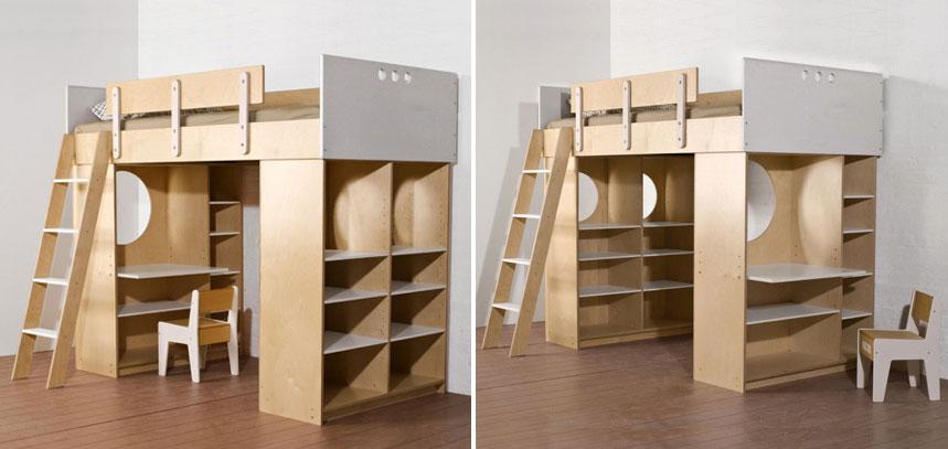 Двухярусная мебель