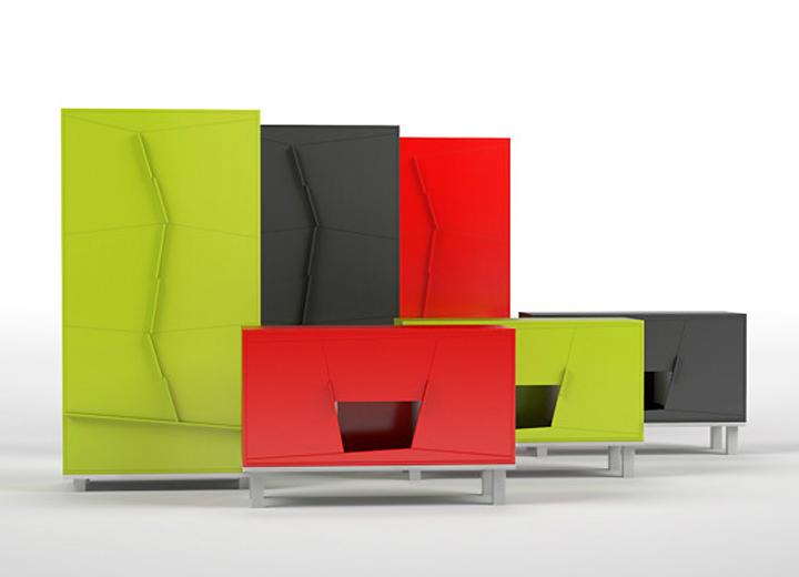 Разноцветные дизайнерские шкафы