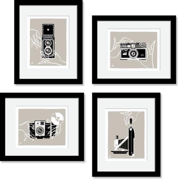 Чудесные картины со старинными камерами