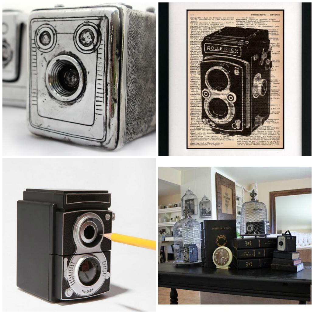 Фото коллаж старинных камер