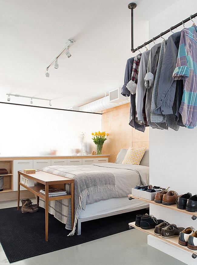 Замечательная организация домашнего гардероба в спальне
