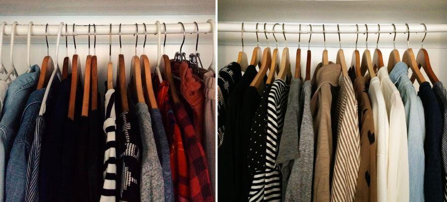 Прекрасная организация домашнего гардероба для сезона осень-зима