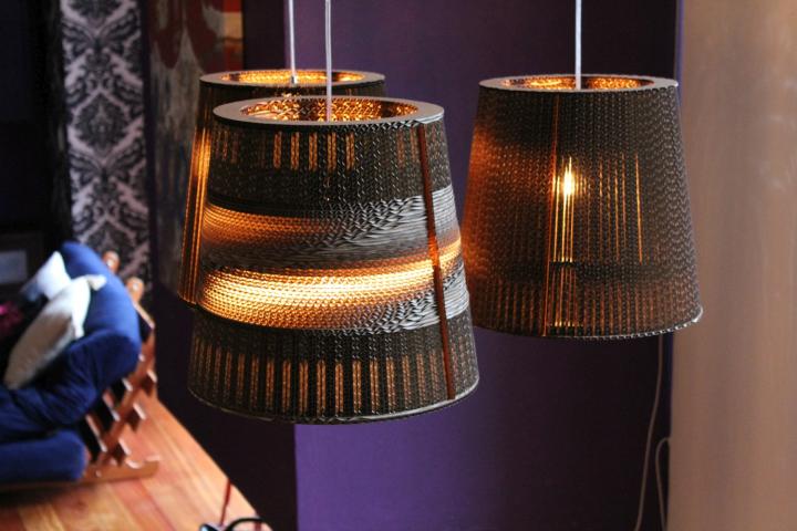 Необычные картонные лампы от Studio 38