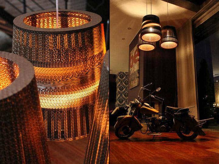 Восхитительные картонные лампы от Studio 38