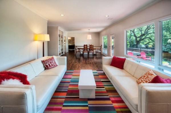 Креативный дизайн интерьера с помощью ковровой плитки